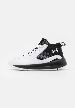 Under Armour - LOCKDOWN 5 UNISEX - Zapatillas de baloncesto - white
