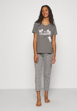 Women Secret - SHORT SLEEVES LONG PANT 101 DALMATIANS - Pyjama - dark melange