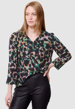 Laura Kent - Bluse - schwarz tannengrün