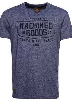 Superdry - MODERN WORKWEAR  - T-shirt con stampa - princedom blue grit