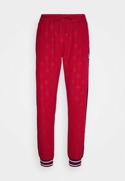 Fila - HANK TRACK PANT - Jogginghose - true red/black iris
