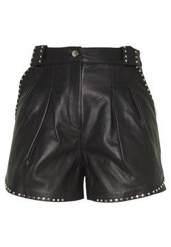 maje - ILYAD - Pantalon en cuir - noir