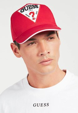 Guess - TRIANGULAIRE - Casquette - rouge