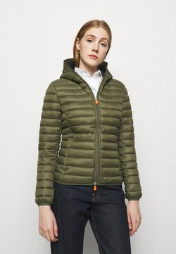 Save the duck - GIGA DAISY HOODED JACKET - Winterjacke - dusty olive