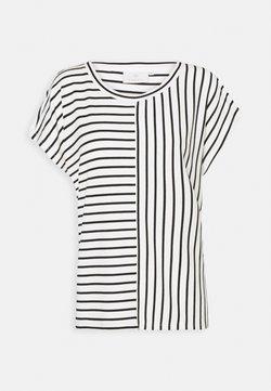 Kaffe - JO LIDDY - T-Shirt print - chalk/black