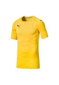 Puma - Funktionsshirt - gelbschwarz