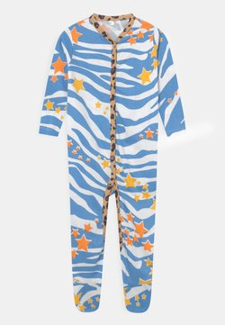 Never Fully Dressed Kids - AQUA ZEBRA PRINT ONSIE UNISEX - Strampler - multi-coloured
