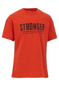 DeFacto - T-shirt z nadrukiem - red