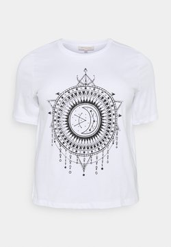 ONLY Carmakoma - CARLANDA - Camiseta estampada - white