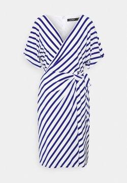 Lauren Ralph Lauren - PRINTED MATTE DRESS - Freizeitkleid - col cream/sportin