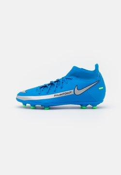 Nike Performance - PHANTOM GT CLUB DF FG/MG - Tekonurmikengät - photo blue/metallic silver/rage green