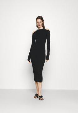 N°21 - CUT OUT DRESS - Gebreide jurk - nero