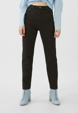 Stradivarius - MOM - Slim fit -farkut - black