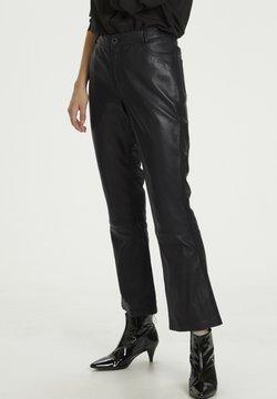 Denim Hunter - HUNTER DHTWIGGY  - Pantalon en cuir - black