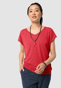 Jack Wolfskin - TRAVEL T W - T-Shirt basic - tulip red