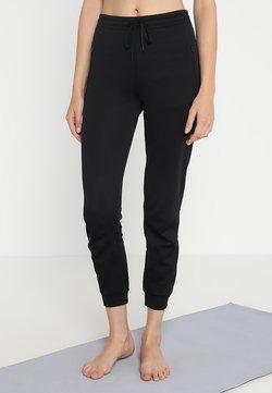 Filippa K - SHINY TRACK PANTS - Träningsbyxor - black