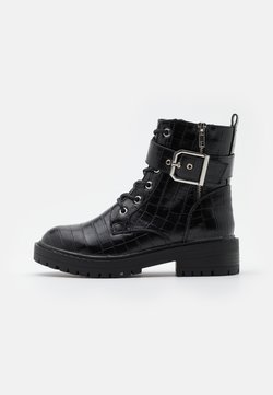 New Look - BEAM LACE UP CHUNKY - Bottines à lacets - black
