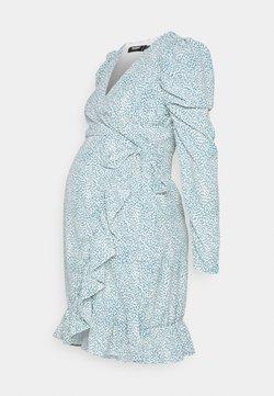 Missguided Maternity - MATERNITY WRAP PLEATED SKIRT DRESS - Jerseyklänning - blue