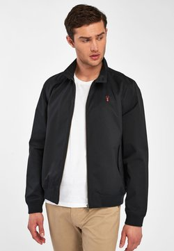 Next - STAG HARRINGTON - Giubbotto Bomber - black