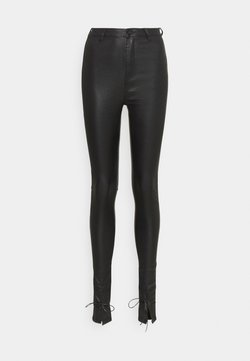 Missguided Tall - TIE VICE - Trousers - black