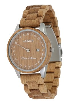 LAIMER - LAIMER QUARZ HOLZUHR - ANALOGE ARMBANDUHR WINE EDITION MEN - Montre - ocher