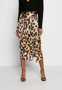 Never Fully Dressed - JASPRE DITSY PRINT SKIRT - Wikkelrok - brown