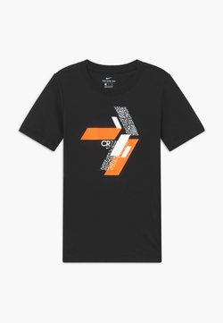 Nike Performance - CR7 TEE HOOK - Printtipaita - black