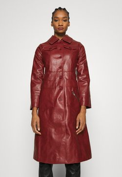 Who What Wear - BUTTON FRONT 70S COAT - Wollmantel/klassischer Mantel - garnet