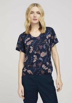 TOM TAILOR - MIT WEITEN ÄRMELN - T-Shirt print - navy floral design