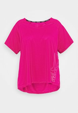 Nike Performance - ICON CLASH MILER TOP - Camiseta estampada - fire berry/white