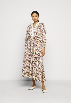 Tory Burch - PRINTED PUFFED SLEEVE DRESS - Freizeitkleid - reverie