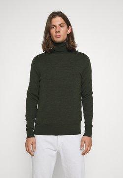 Calvin Klein Tailored - SUPERIOR TURTLE SWEATER - Strickpullover - dark olive