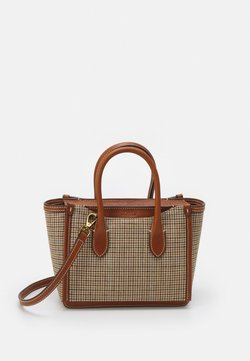 Polo Ralph Lauren - MINI SLOANE SATCHEL SMALL - Käsilaukku - brown multi