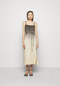 Proenza Schouler White Label - OMBRE PLAID PLEATED DRESS - Freizeitkleid - nude/black