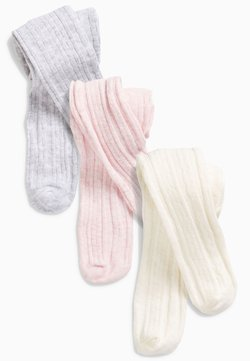 Next - 3 PACK CABLE TIGHTS - Medias - pink