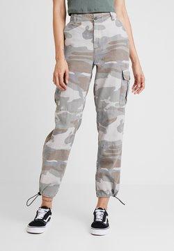 Topshop - PALE CAMO FRIDA - Pantalon classique - khaki