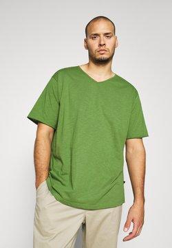 Jack´s Sportswear - RAW VNECK SLUB TEE - T-shirt basique - oliv