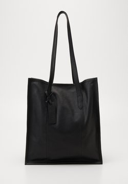 Zign - LEATHER - Torba na zakupy - black