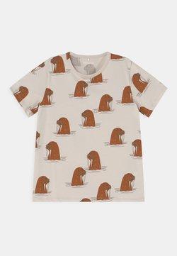 Mini Rodini - WALRUS TEE UNISEX - T-shirt med print - grey