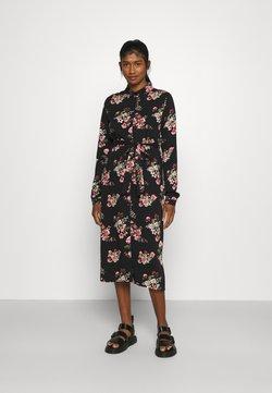 Vila - VIDANIA BELT SHIRT DRESS - Blusenkleid - black/rose