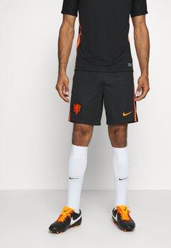 Nike Performance - NIEDERLANDE KNVB SHORT AWAY - Pantalón corto de deporte - black/safety orange
