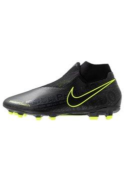 Nike Performance - PHANTOM VSN ACADEMY DF FG/MG - Fotballsko - black/volt