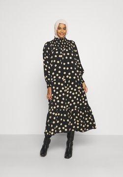 Glamorous - MODESTY SMOCKED HIGHNECK MAXI DRESSES WITH LONG SLEEVES - Maxikleid - black/sand