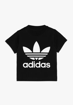 adidas Originals - TREFOIL UNISEX - T-shirt print - black/white
