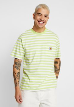 Carhartt WIP - SCOTTY POCKET  - T-Shirt print - lime / white
