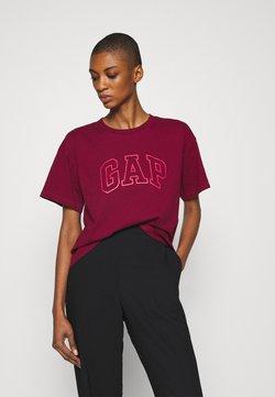 GAP - EASY TEE - T-shirt z nadrukiem - garnet