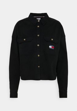 Tommy Jeans - CROPPED UTILITY - Overhemdblouse - black
