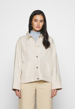Monki - ROBYN JACKET - Farkkutakki - white