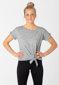 super.natural - W KNOTTED TEE - T-Shirt print - grau