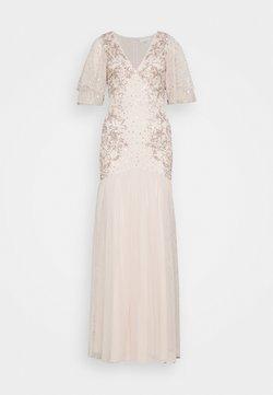 Maya Deluxe - WATERFALL SLEEVE EMBELLISHED DRESS - Festklänning - pearl pink